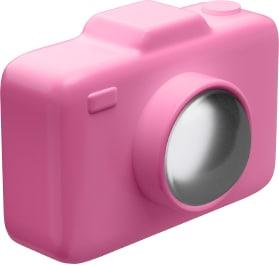 Appareil photo rose 3D