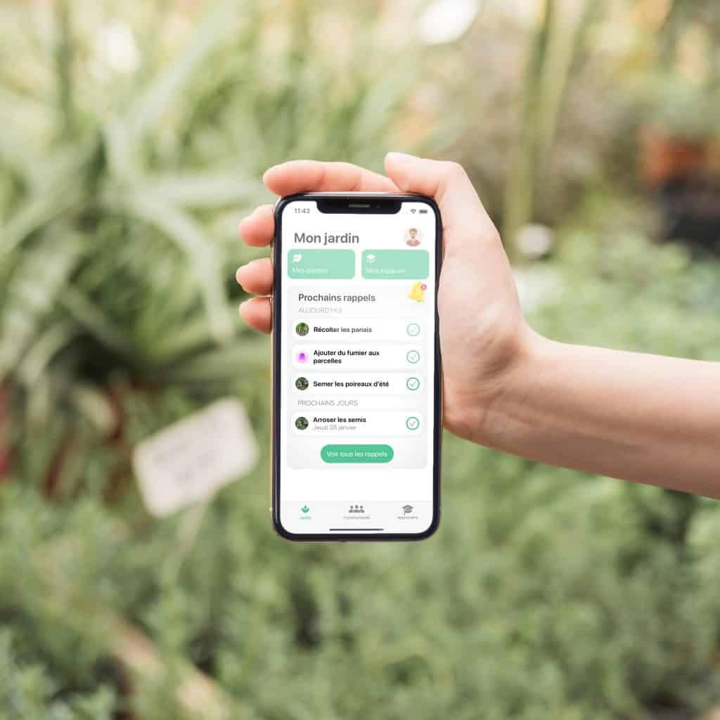 Application iOS Tomate & Basilic jardinage permaculture